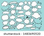 markup balloon set crayon...   Shutterstock .eps vector #1483690520