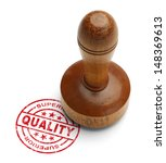 Red superior quality stamp with ...