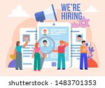 search for employees  hr... | Shutterstock .eps vector #1483701353