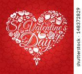 abstract valentine's day card...   Shutterstock .eps vector #148372829