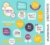 collection of premium promo... | Shutterstock .eps vector #1483754570