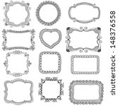 hand drawn frames | Shutterstock . vector #148376558
