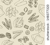 seamless pasta pattern | Shutterstock . vector #148377320