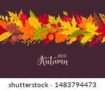bright autumn leaves panorama... | Shutterstock .eps vector #1483794473