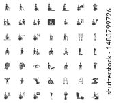 disabled vector icons set ... | Shutterstock .eps vector #1483799726