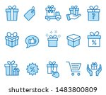 set of gift icons  such as...