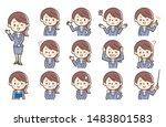 set of character in 13... | Shutterstock .eps vector #1483801583