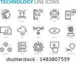 set of technology icons  5g  ai ...
