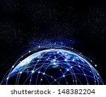 blue vivid image of globe.... | Shutterstock . vector #148382204
