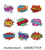 comic speech bubbles set with... | Shutterstock .eps vector #1483827419