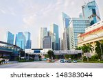 Downtown Of Singapore In The...