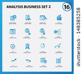 business and analysis icon set... | Shutterstock .eps vector #148385258