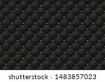black matte leather texture... | Shutterstock .eps vector #1483857023