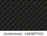 black matte leather texture...   Shutterstock .eps vector #1483857023