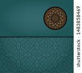 vintage luxury decorative...   Shutterstock .eps vector #1483858469