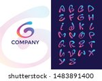 creative design vector font of... | Shutterstock .eps vector #1483891400