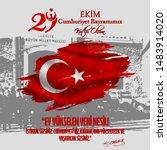 29 ekim cumhuriyet bayrami...   Shutterstock .eps vector #1483914020