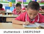 primary thai students in school ...   Shutterstock . vector #1483915469