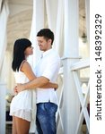 beautiful young romantic couple ... | Shutterstock . vector #148392329