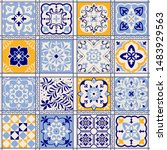seamless colorful patchwork in... | Shutterstock .eps vector #1483929563