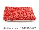 Chopped Meat  Isolated On White ...