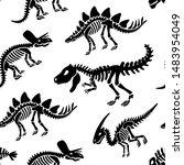dinosaurs skeletons fossils...   Shutterstock .eps vector #1483954049