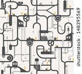 seamless background   factory   Shutterstock .eps vector #148395569