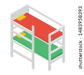icon of double deck bed... | Shutterstock .eps vector #1483958393