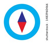 compass icon. flat illustration ...