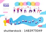 join our team vector horizontal ... | Shutterstock .eps vector #1483975049