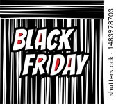 inscription black friday on... | Shutterstock .eps vector #1483978703