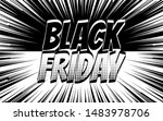 inscription black friday on... | Shutterstock .eps vector #1483978706