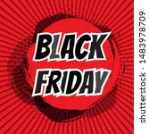 black friday inscription on... | Shutterstock .eps vector #1483978709