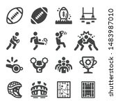rugby sport and recreation icon ... | Shutterstock .eps vector #1483987010