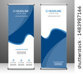 roll up banner stand template... | Shutterstock .eps vector #1483987166