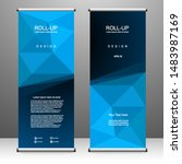 roll up banner stand template... | Shutterstock .eps vector #1483987169