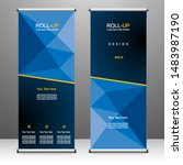 roll up banner stand template... | Shutterstock .eps vector #1483987190
