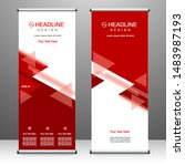 roll up banner stand template... | Shutterstock .eps vector #1483987193