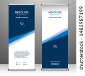 roll up banner stand template... | Shutterstock .eps vector #1483987199