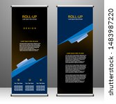 roll up banner stand template... | Shutterstock .eps vector #1483987220