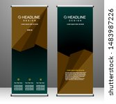 roll up banner stand template... | Shutterstock .eps vector #1483987226