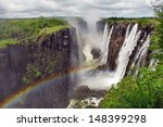 Rainbow Over Victoria Falls On...