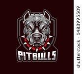 Angry Pitbull Mascot  Vector...