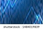 triangle shape blue pattern... | Shutterstock .eps vector #1484019839