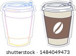 gradient line drawing and... | Shutterstock .eps vector #1484049473
