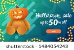 halloween sale   50  off  blue... | Shutterstock .eps vector #1484054243