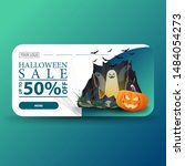 halloween sale  up to  50  off  ... | Shutterstock .eps vector #1484054273