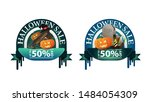 halloween sale   50  off  two... | Shutterstock .eps vector #1484054309