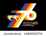 retro style colorful font... | Shutterstock .eps vector #1484054576