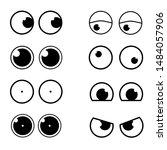 set cartoon eye in vector | Shutterstock .eps vector #1484057906